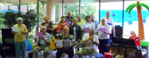 The Ypsilanti Recreation Center's 50 & Beyond Music Makers led a sing-along.