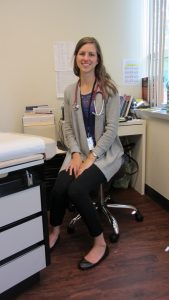 Photo of nurse practitioner Katherine Hoffman