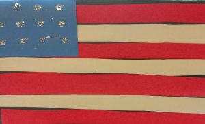 Paper American flag craft
