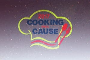 Cooking for a Cause logo with starry sky