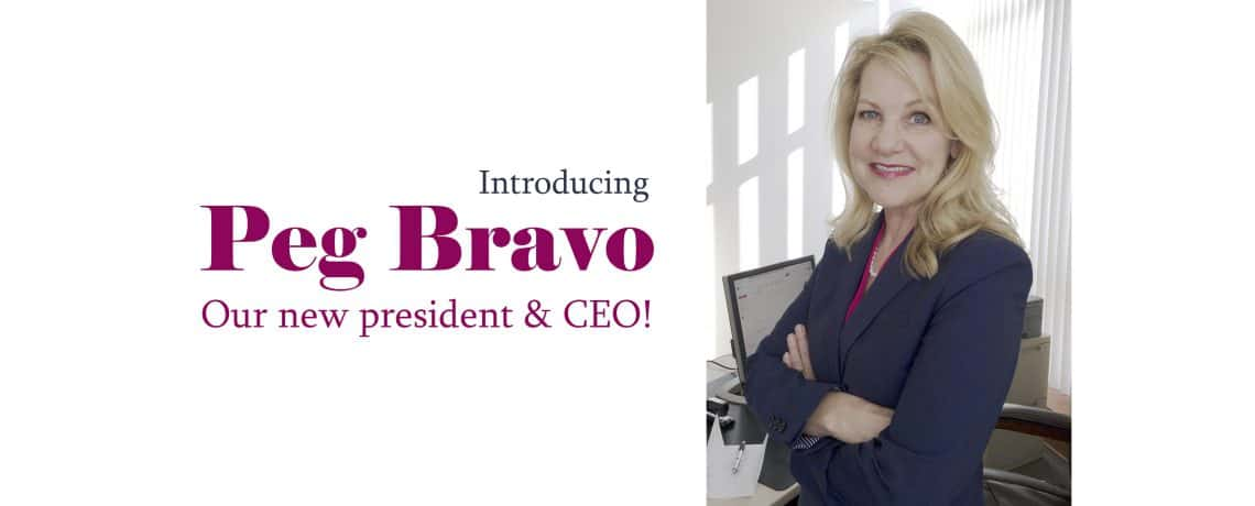 Welcome Peg Bravo!