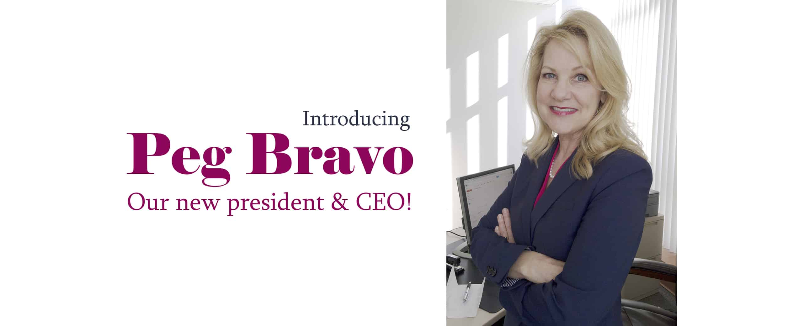 Link to article about Peg Bravo, new president and CEO