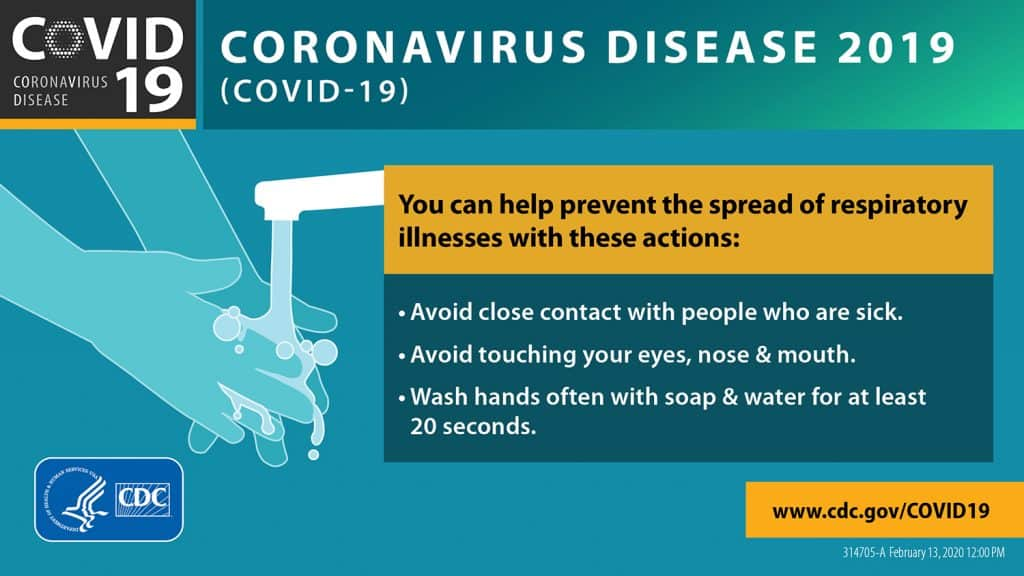 Tips to prevent the spread of the coronavirus
